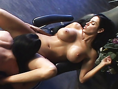 Two dark haired gals licking tits and cages of love like fools!