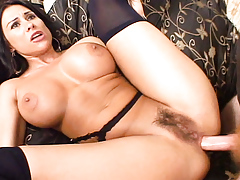 MILF with big tits gets her wazoo pliant and creampied