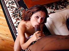 Nice regular milk sacks girl is there to give some good blowjob!