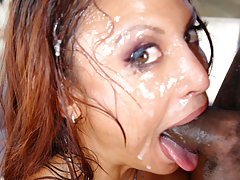 Jana Oso Blows A Fat Cock And Purchases A Massive Facial