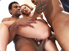 Hoe Benefits from Her Gazoo Drilled By 2 Major Black Snakes & Benefits from Cumshot