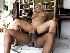 Two bitches addicted to black schlong are using one in here!