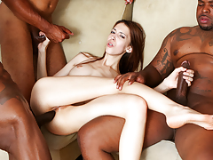 Skinny Jenna Justine gets bang banged by severe black cocsk