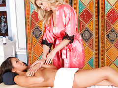 Jayden Lee benefits from the XXX full body treatment from Julia Ann.