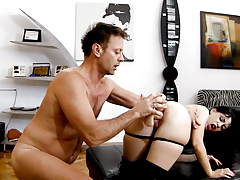 Isabella Widens Her Anus With 2 Gigantic Toys In Rocco's POV