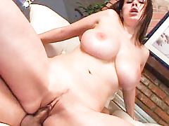 Wet and wild Gianna Michaels gets titty bonked by big cock.