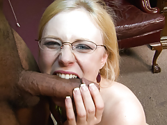 Golden-haired girl with big titties want to eat that cock like meat!