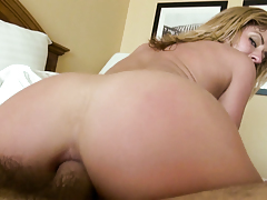 Sheena loves filling her gorge and ass with big cock.