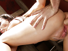 Sex slave Dana is forced to suck and fuck her master James.