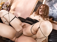 All American TS star Hazel Tucker enjoys a massive meat rod