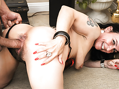 Miss Nina gets her sodden cunt pounded by Anthony's mean cock.