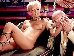 Roman Gladiator Licking The Pussy Of A Juvenile Blonde Goddess