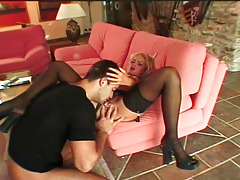 Untamed gal who enjoys to obtain fuck by a big cock on a couch
