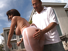 Buttman's archive footage of perspired asses getting spanked !