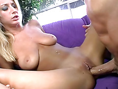 Peter North Have Fun With Gorgeous Blonde & Creams Her Face