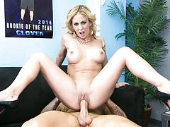 Cherie hears guy's jock is huge & wants to notice for herself!