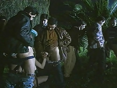 Rocco & Other Men Enjoy Fucking Twofold Horny Prostitutes Outdoors