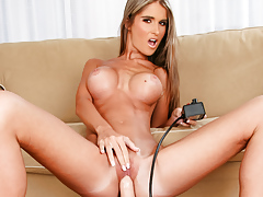 Tiny slut needs a good fucking that she gets from a sybian!