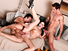 Furious wife craves to get fuck by her husband and her neighbor