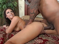Mia Bangg Loves The Big Ebony Shlong In Her Drenched Pussy And Anus