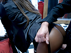 Hot Ebony Angel Getting Her Beautiful Butt A Huge & Hard Ramrod