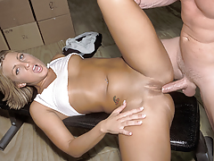 Horny beautiful blonde fucked in the ass, gentile and mouth !