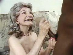 Granny takes care of cock