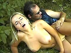 Busty girl get cummy tits