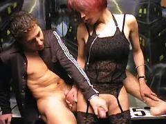 Hot tranny and boss play