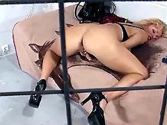 Sexy prisoner masturbates