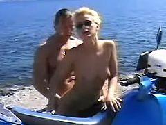 Hot slutty fucks on beach