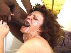 Granny poked by black guy