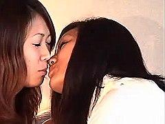 Lesbians taste each other