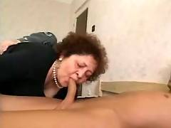 Nasty old whore in orgy