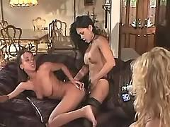 Lesbian dildoing on cam