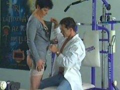 Grandma having sex in gym