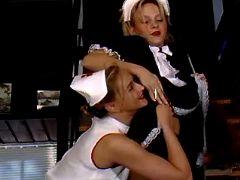 Maid and nurse have fun