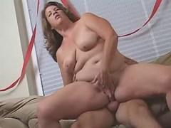 Elephant size busty girl fucks hard