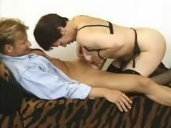 Housemaid gets off with young lover