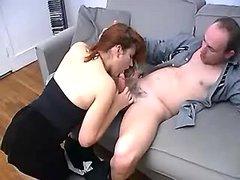 Redhead vixen fucking w balding man