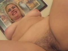 Chubby blonde fucked by black cock