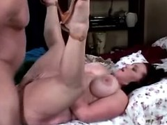 Chubby busty woman sucks and fucks