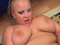 Chubby hottie fucked by horny man