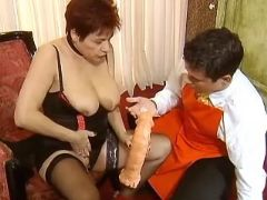 Milf with didlo seduces amateur guy