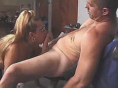 Innocent shemale sucking hard dick