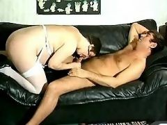Pregnant mommy gets cum on boobs