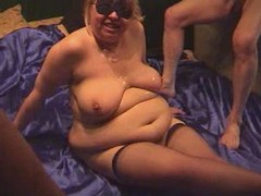 BBW gets cum on tits after fucking