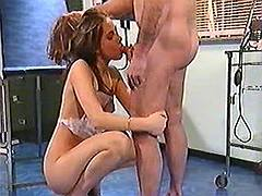 Cute nurse fucks w doctor in clinic