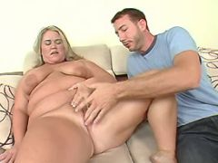 Chubby mature spoils man and sucks