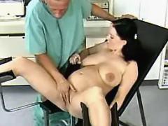 Doc spoils brunette pregnant girl